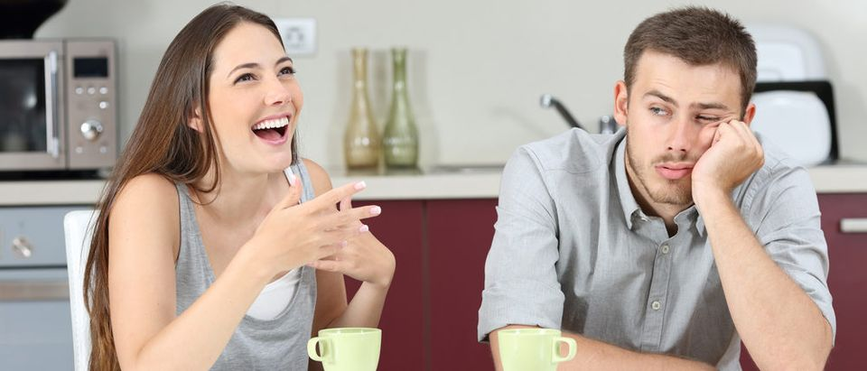 Bored man and his wife (Photo: Shutterstock)