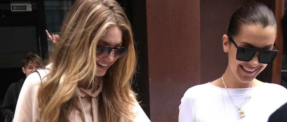 Gigi Hadid, Bella Hadid and Anwar Hadid are spotted out and about in New York City