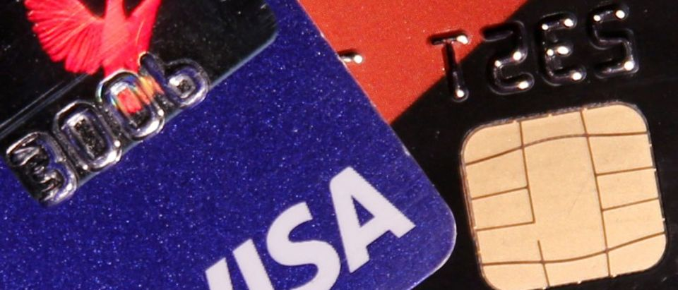 FILE PHOTO: View shows credit cards