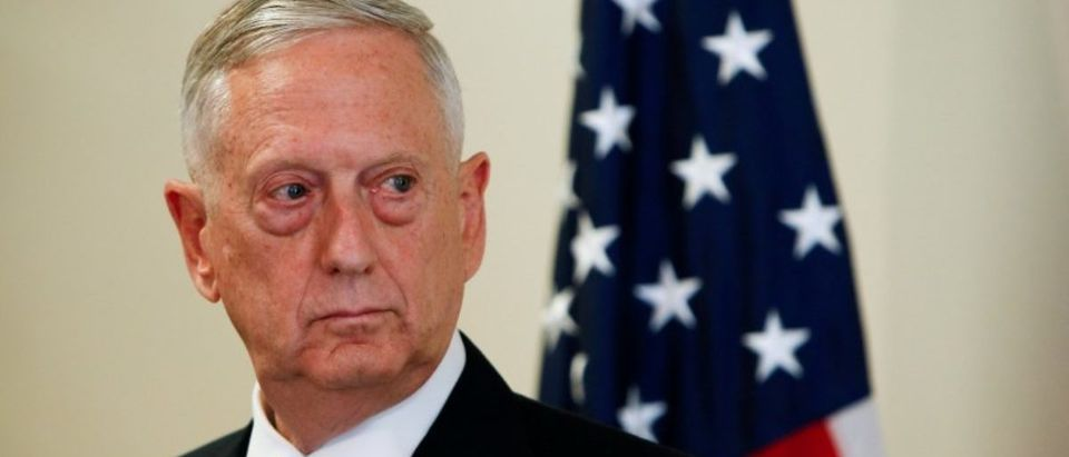 FILE PHOTO: U.S. Defence Minister Mattis is seen during a press conference at the George C. Marshall Center n Garmisch-Partenkirchen