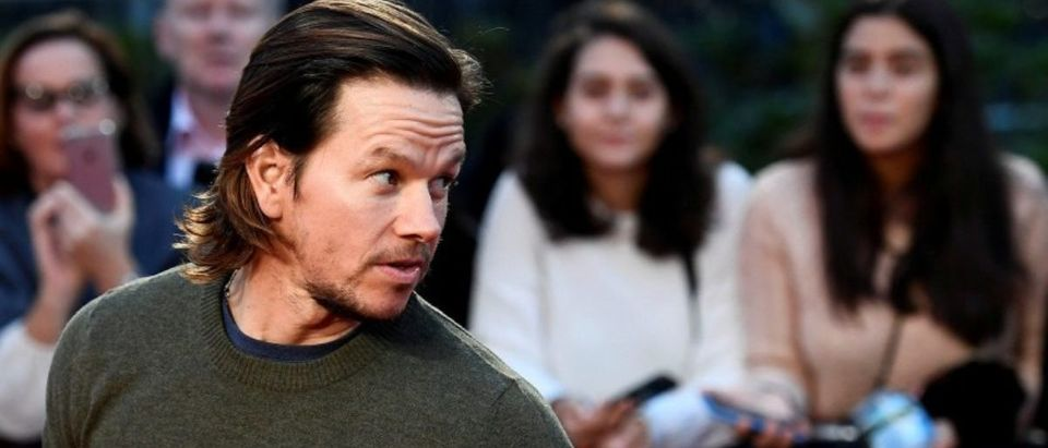 """FILE PHOTO: Actor Mark Wahlberg poses as he arrives at the European premiere of """"Deepwater Horizon"""" at Leicester Square in London"""