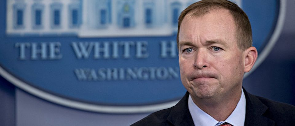 OMB Director Mick Mulvaney Speaks During The White House Press Briefing