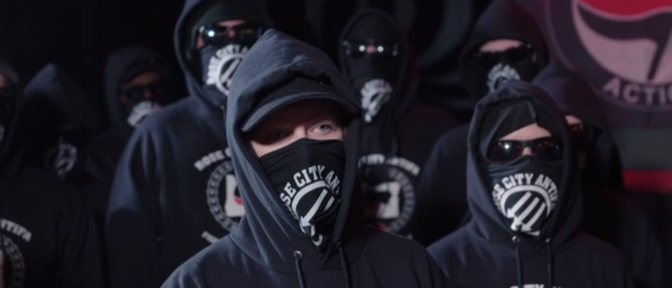 Antifa Members (CNN Video Screenshot)