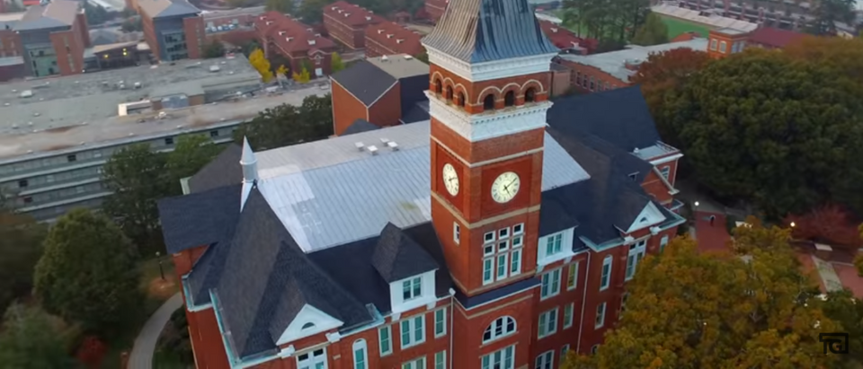 A building at Clemson University (Photo Credit: YouTube/Teddy Giard)
