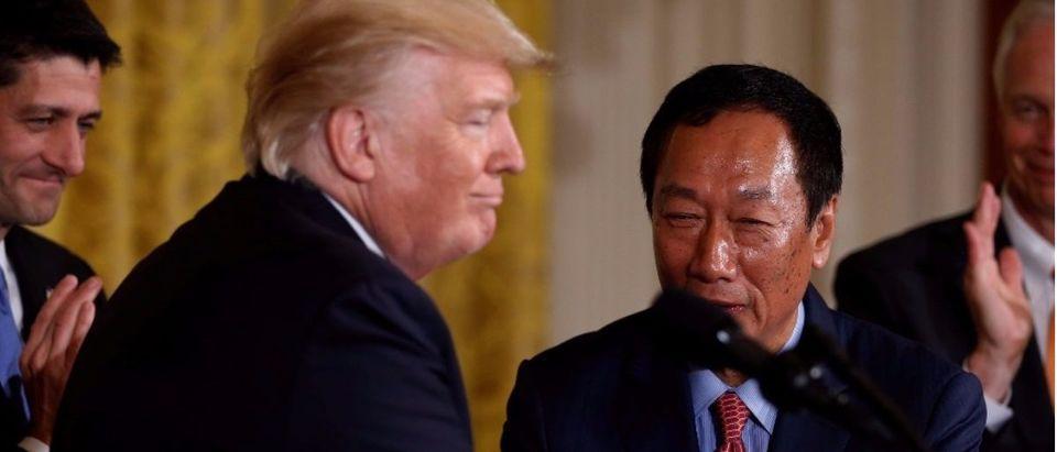 Foxconn Chairman Gou with President Trump