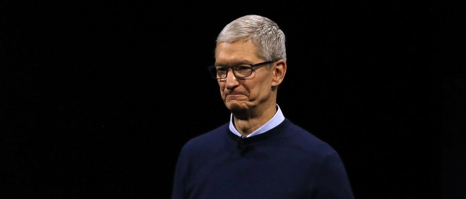 Apple CEO Tim Cook at the 2017 Apple Worldwide Developer Conference. Photo by Justin Sullivan/Getty Images.