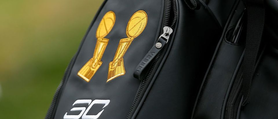 A shot of Stephen Curry's golf bag taken during the first round of the Ellie Mae Classic at TCP Stonebrae on August 3, 2017 in Hayward, California. (Photo by Lachlan Cunningham/Getty Images)