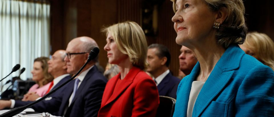 Trump's ambassdor nominees McFarland, Eisenberg, Johnson, Craft and Hutchison testify at the Senate Foreign Relations Committee hearing on their nominations on Capitol Hill in Washington (Photo: REUTERS/Jonathan Ermst)