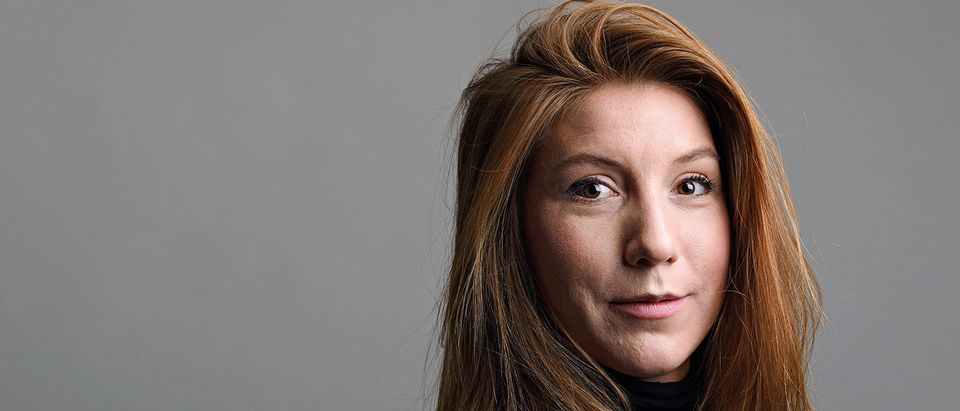 """A photo of Swedish journalist Kim Wall who was aboard a submarine """"UC3 Nautilus"""" before it sank"""