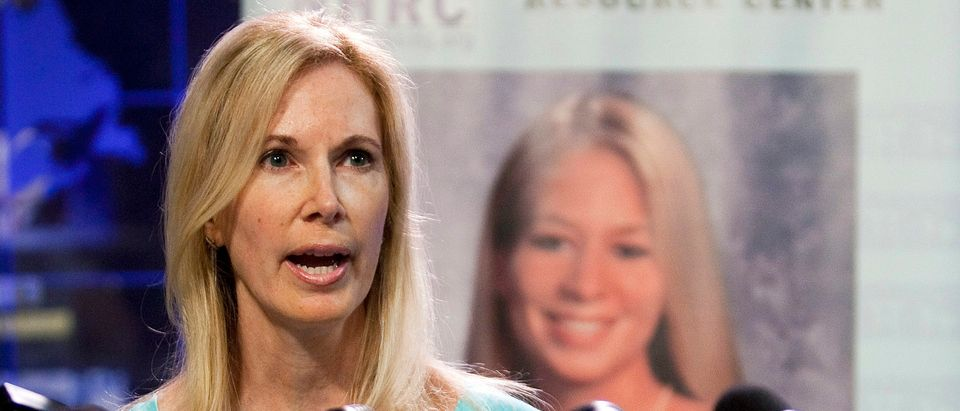 Beth Holloway, whose daughter Natalee disappeared five years ago in Aruba, speaks at the launch of the Natalee Holloway Resource Center in Washington
