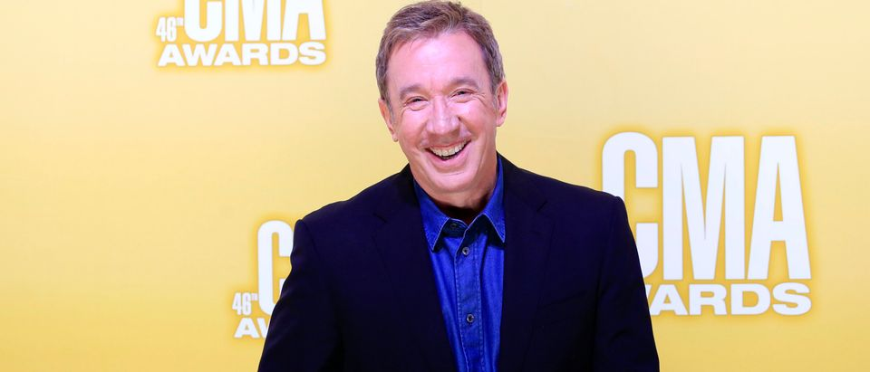 Actor Tim Allen arrives at the 46th Country Music Association Awards in Nashville