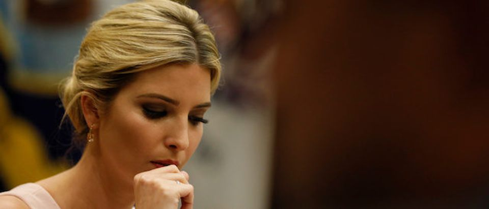 Ivanka Trump leads a listening session with military spouses at the White House in Washington