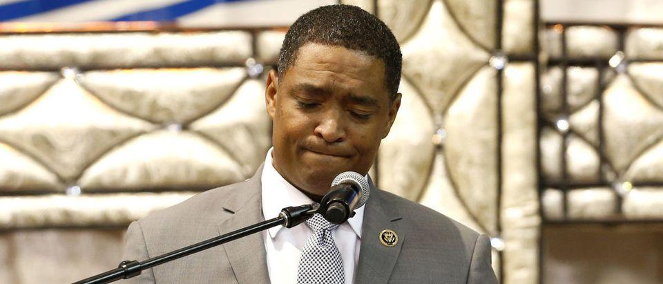 U.S. Representative Cedric Richmond, speaks during the funeral of Alton Sterling, in Baton Rouge, Louisiana, U.S. July 15, 2016. REUTERS/Jonathan Bachman