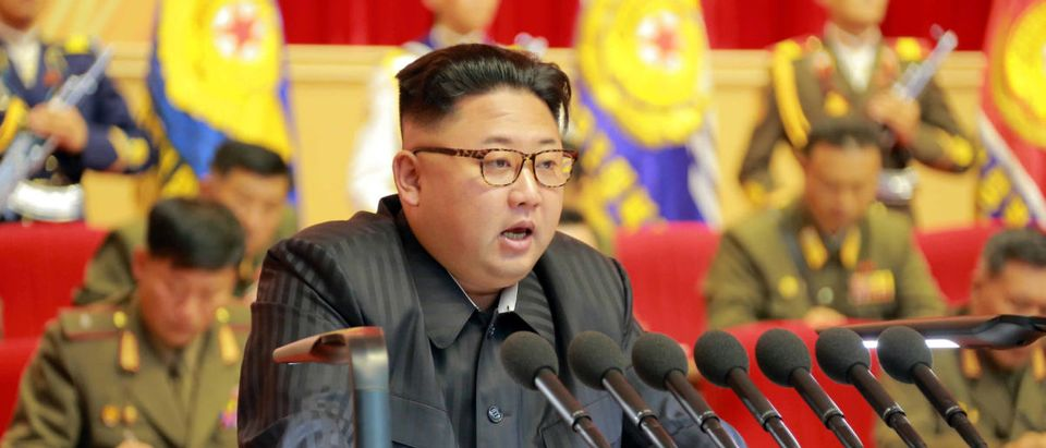 North Korean leader Kim Jong Un guides the 3rd Meeting of Activists of the Korean People's Army (KPA) in the Movement for Winning the Title of O Jung Hup-led 7th Regiment in this undated photo released by North Korea's Korean Central News Agency (KCNA) in Pyongyang on August 4, 2016. KCNA/ via REUTERS