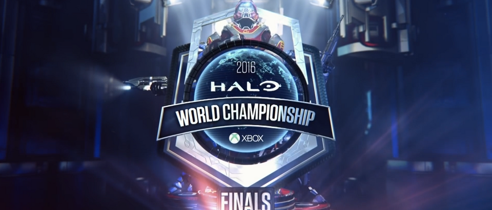 Pictured is an esports logo from Microsoft's Halo. (Sree.nshot/Youtube/Halo)