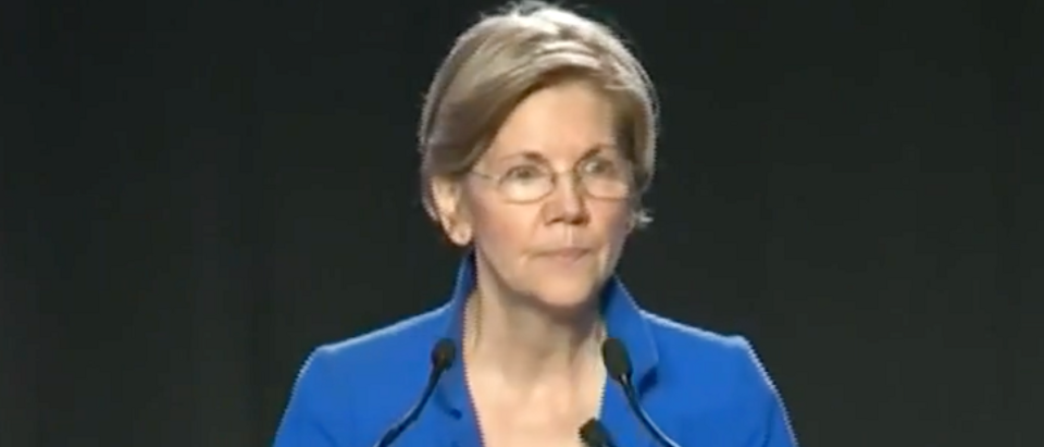 Elizabeth Warren speaks at Netroots Nation, Aug. 12, 2017. (Youtube screen grab)