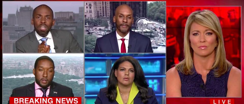 Screen Shot Paris Dennard and Keith Boykin Spar (CNN: Aug 14, 2017)