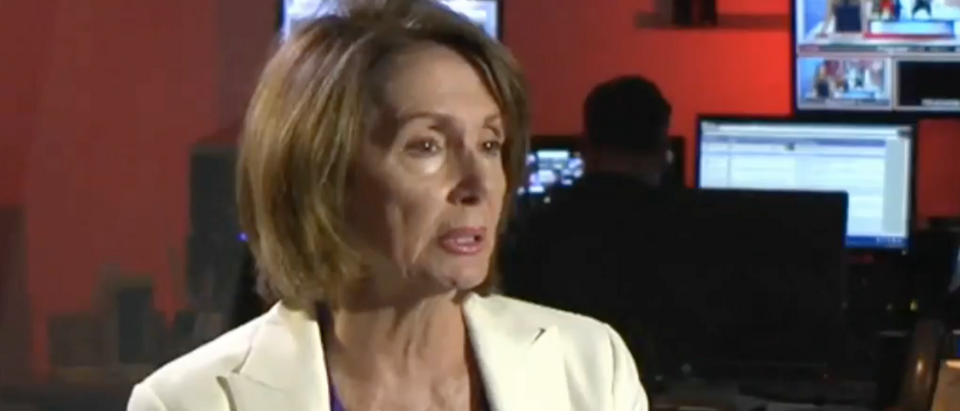 Nancy Pelosi in an interview with KRON. (Youtube screen grab)