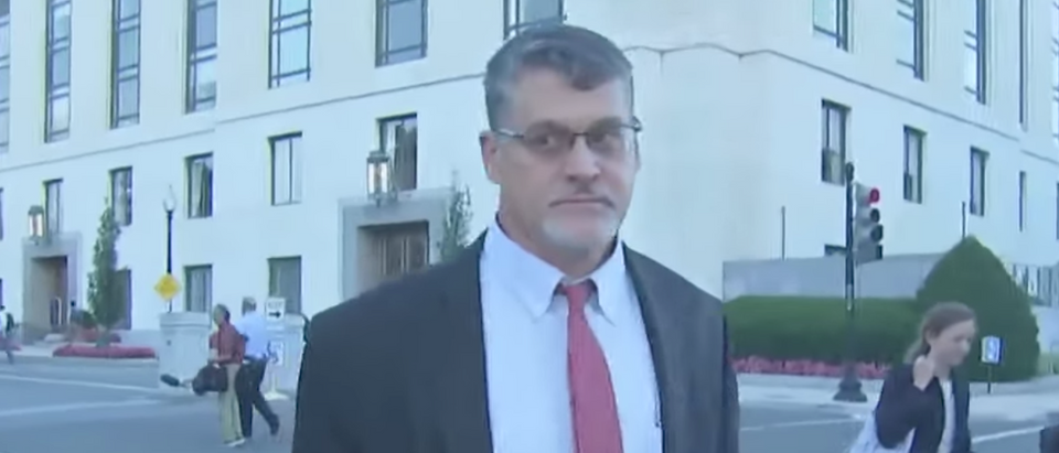 Fusion GPS co-founder Glenn Simpson after Aug. 22, 2017 interview with Senate Judiciary Committee. (Youtube screen grab