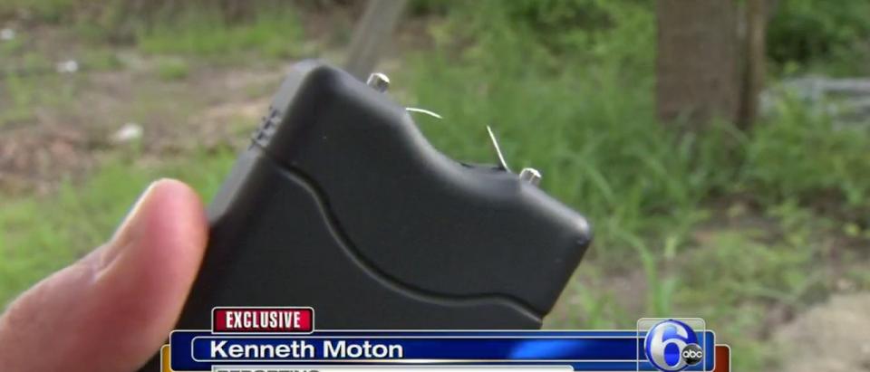 Stun Gun (ABC 6 NJ News Screen Shot)