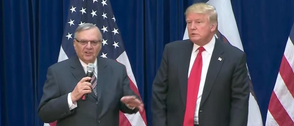 Joe Arpaio and Donald Trump (Youtube screen grab)