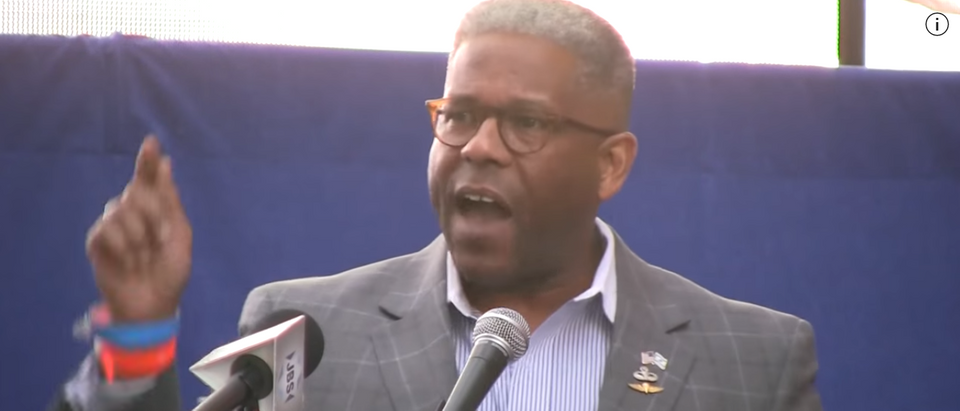 Allen West Speaking At Military Rally