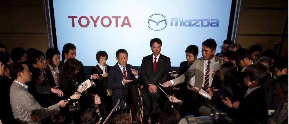 Toyota and Mazda joint press conference