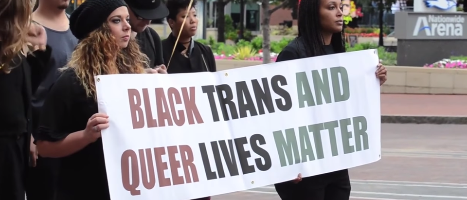 Black Trans Lives Matter Protest on City Hall Columbus Ohio (YouTube Screenshot)