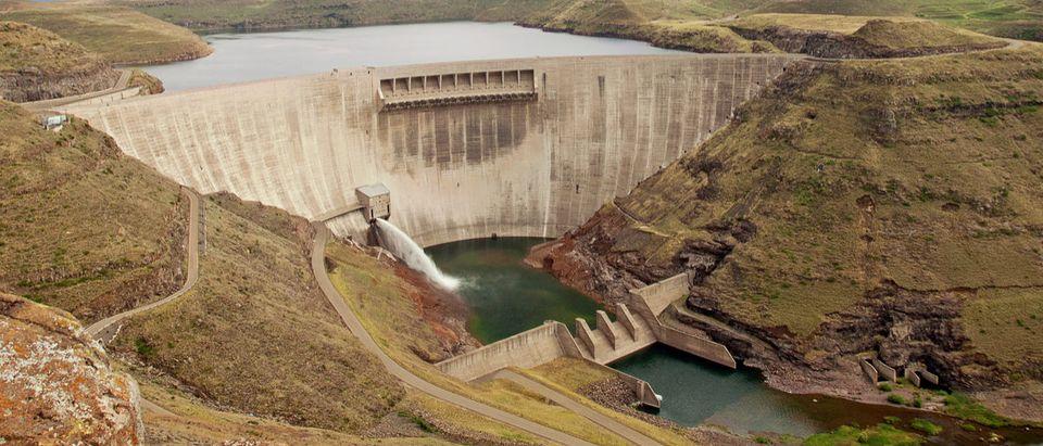 Katse dam wall in Lesotho