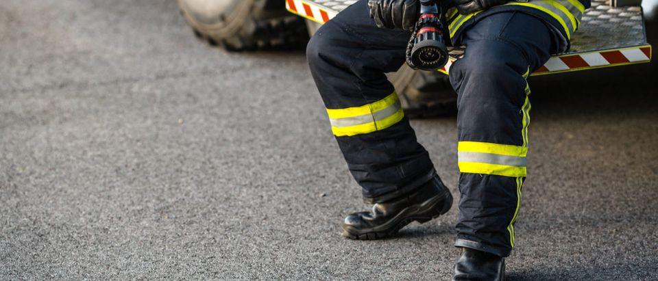 Shutterstock/ firefighter portrait on duty