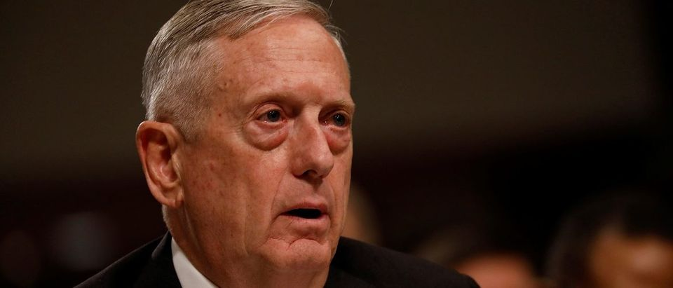 U.S. Defense Secretary Mattis testifies before the Senate Armed Services Committee on Capitol Hill in Washington