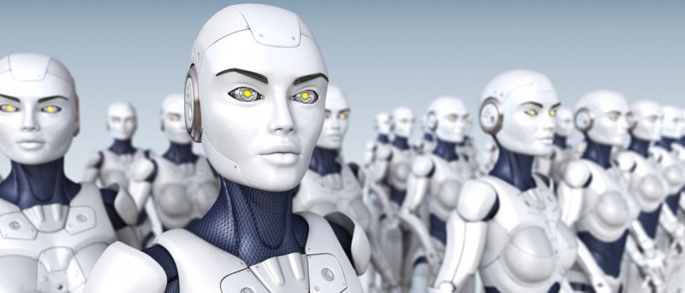 A robot army is ready for deployment. [Shutterstock - Tatiana Shepeleva]