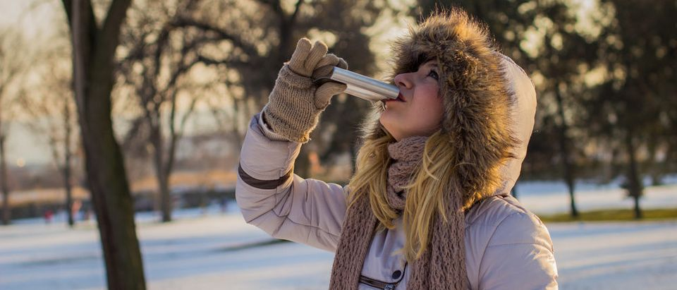 Women can drink from flasks, too (Photo via Shutterstock)