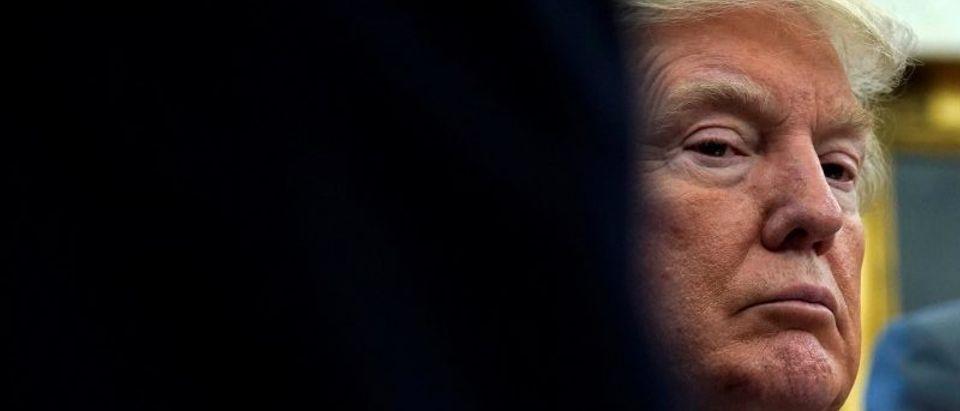Trump receives an update on Hurricane Harvey relief efforts in Washington