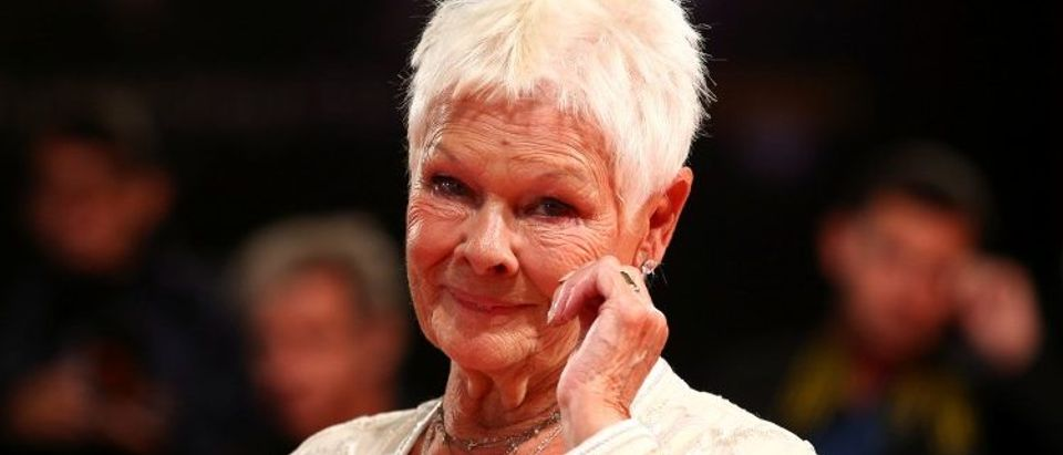 """Actor Judi Dench poses during a red carpet for the movie """"Victoria and Abdul"""" at the 74th Venice Film Festival in Venice"""