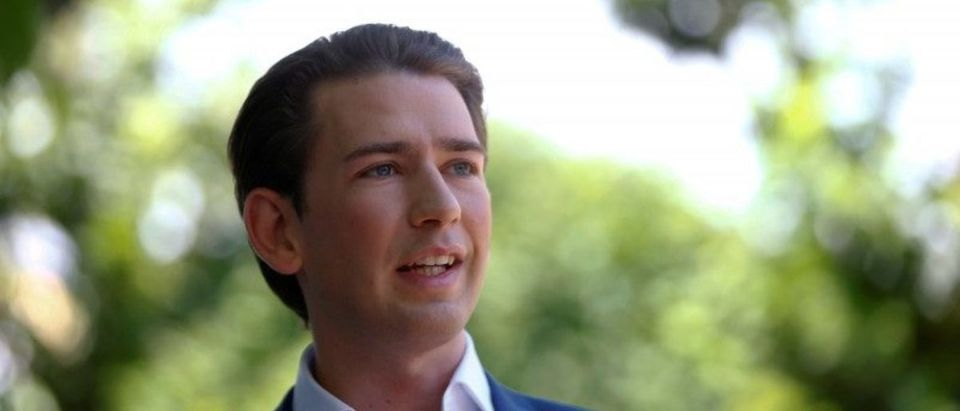 FILE PHOTO: Austria's Foreign Minister Kurz addresses the media in Vienna