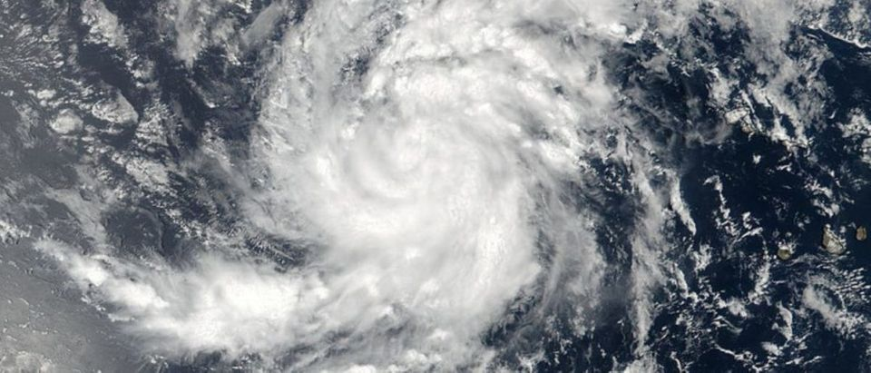 Satellite image of Tropical Storm Irma pictured here in the Eastern Atlantic Ocean