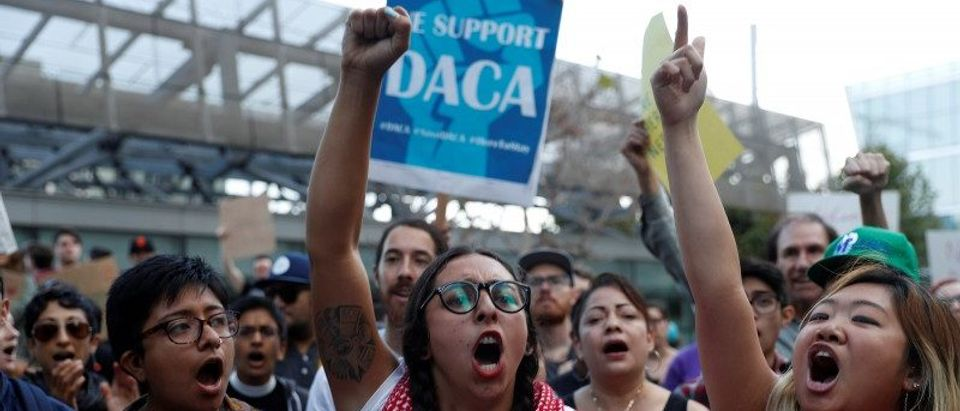 DACA protest outside the San Francisco Federal Building in San Francisco