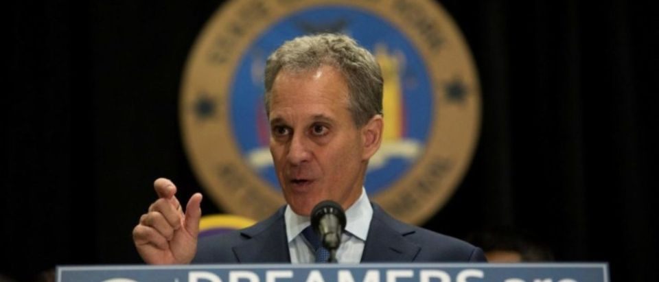 New York Attorney General Eric T. Schneiderman announces the filing of a multistate lawsuit to protect Deferred Action for Childhood Arrivals (DACA) recipients at a press conference at John Jay College in New York City, U.S., September 6, 2017. REUTERS/Joe Penney