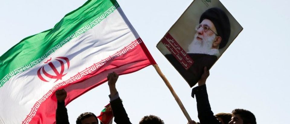 FILE PHOTO: Demonstrators attend a ceremony to mark the 33rd anniversary of the Islamic Revolution in Tehran
