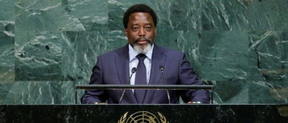 Joseph Kabila Kabange, President of the Democratic Republic of the Congo addresses the 72nd United Nations General Assembly at U.N. headquarters in New York, U.S., September 23, 2017. REUTERS/Eduardo Munoz