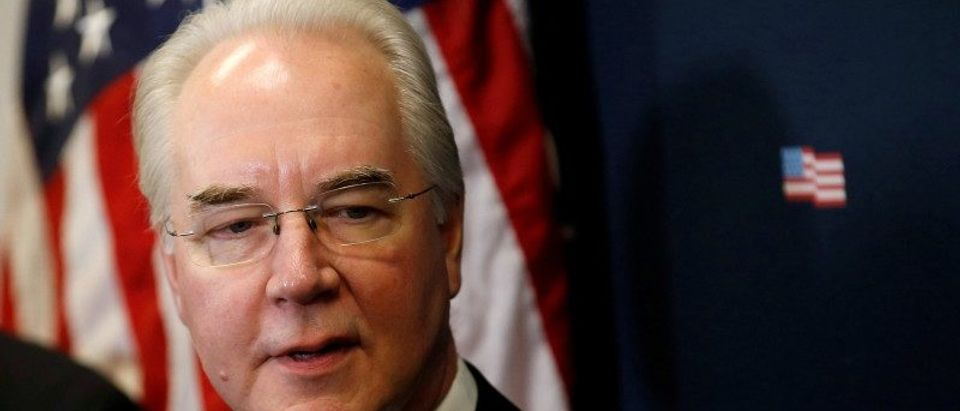 U.S. Health and Human Services Secretary Price speaks about efforts to repeal and replace Obamacare, in Washington