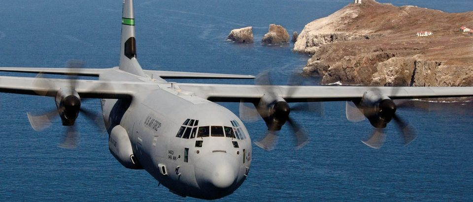 C-130E/H/J Hercules Primary function: Global airlift. Speed: C-130E, 345 mph; C-130H, 366 mph; C-130J, 417 mph; C-130J-30, 410 mph. Dimensions: Wingspan 132 ft. 7 in.; length 97 ft. 9 in. (C-130J-30 length, 112 ft. 9 in.); height 38 ft. 10 in. Range: C-130E, 1,438 miles; C-130H, 1,496 miles; C-130J, 1,841 miles; C-130J-30, 2,417 miles. Crew: C-130E/H, five; C-130J, three. (USAF/Flickr)