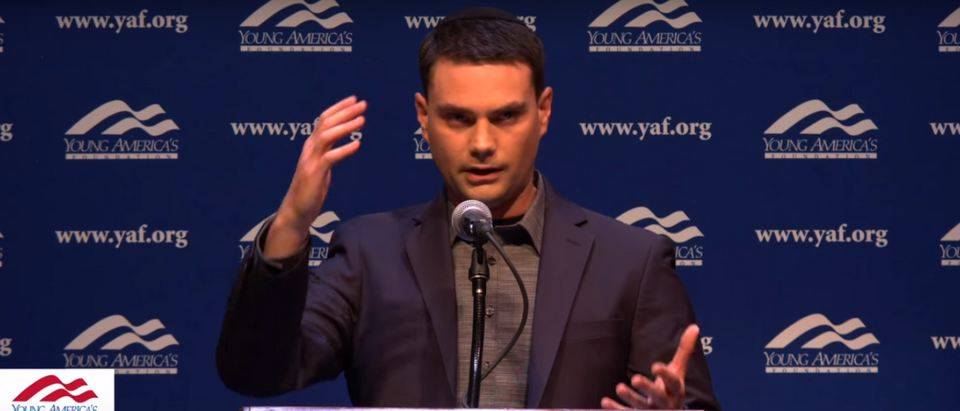 Ben Shapiro speaks at the University of California, Berkeley (Photo Credit: YouTube/YAFTV)