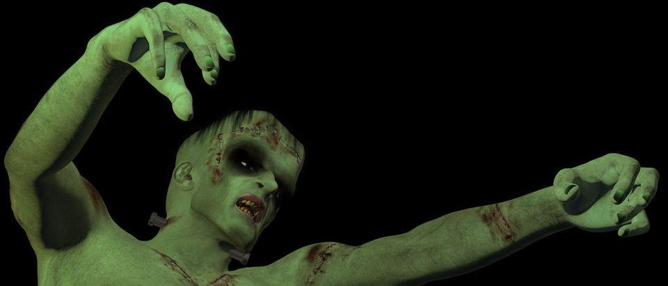 Frankenstein's Monster Reaching Out