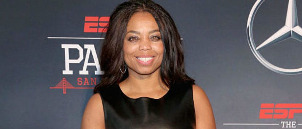 SAN FRANCISCO, CA - FEBRUARY 05: ESPN columnist Jemele Hill attends ESPN The Party on February 5, 2016 in San Francisco, California. (Photo by Robin Marchant/Getty Images for ESPN)