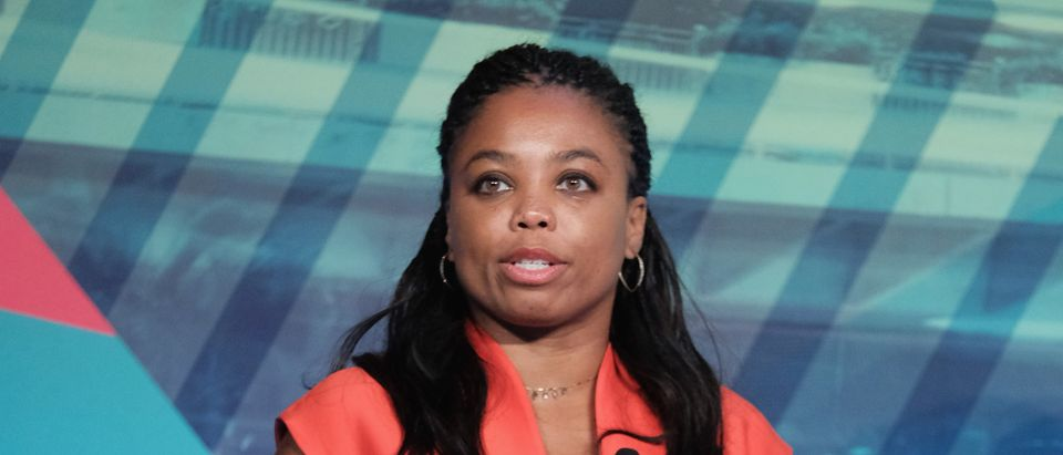 NEW YORK, NY - SEPTEMBER 29: Co-host ESPN2's His & Hers Jemele Hill speaks at the Why Are We Still Talking About This? Women & Sport in 2016 panel at Liberty Theater during 2016 Advertising Week New York on September 29, 2016 in New York City. (Photo by D Dipasupil/Getty Images for Advertising Week New York)