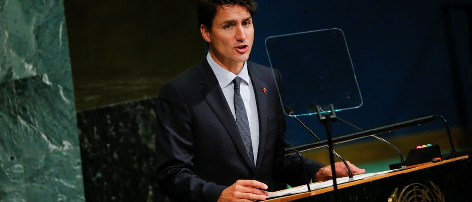 Canadian Prime Minister, Justin Trudeau, addresses the 72nd United Nations General Assembly at U.N. headquarters in New York