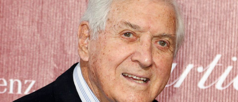 Former game show host Monty Hall arrives at the 2014 Palm Springs International Film Festival Awards Gala in Palm Springs