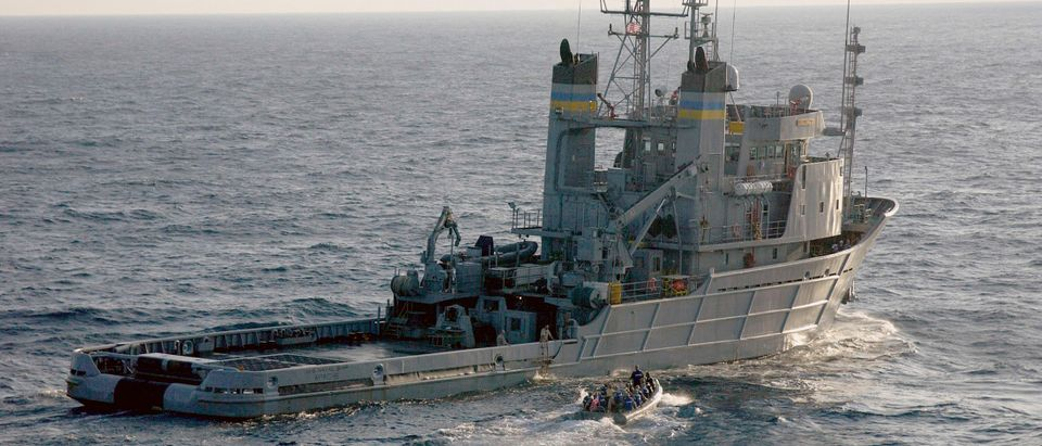 Handout of U.S. Navy search and rescue vessel USNS Apache in the mid-Atlantic